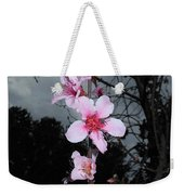 Peach Blooms Weekender Tote Bag