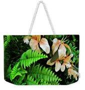 Peach Floral Weekender Tote Bag
