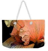 Peach Iris Digital Art Weekender Tote Bag