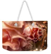 Peach Roses And Ribbons Weekender Tote Bag by Svetlana Sewell