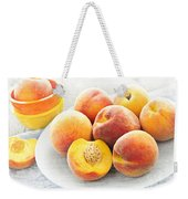 Peaches On Plate Weekender Tote Bag