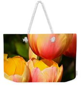 Peachy Tulips Weekender Tote Bag