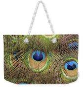 Peacock Feather Eyes Weekender Tote Bag