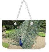 Peacock Glory Weekender Tote Bag