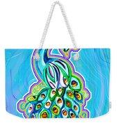 Peacock Swirl Weekender Tote Bag