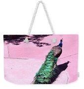 Peacock Walk Weekender Tote Bag
