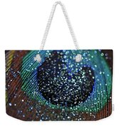 Peacock With Bling Weekender Tote Bag