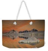 Peaks At Sunset Wiencke Island Weekender Tote Bag by Colin Monteath