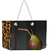 Pear With Straw Weekender Tote Bag