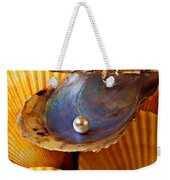 Pearl In Oyster Shell Weekender Tote Bag
