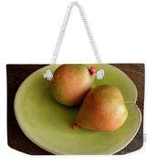 Pears On Heart Plate Weekender Tote Bag