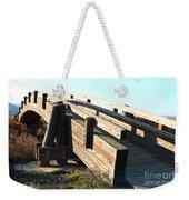 Pedestrian Bridge At Martinez Regional Shoreline Park In Martinez California . 7d10513 Weekender Tote Bag