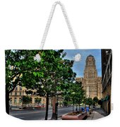 Pedestrian View Of City Hall Horizontal  Weekender Tote Bag