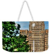 Pedestrian View Of City Hall Vert Weekender Tote Bag