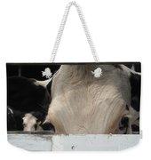 Peek-a-boo Cow Weekender Tote Bag