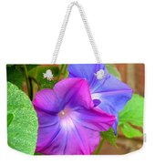 Peek-a-boo Morning Glories Weekender Tote Bag