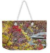 Peeking Through The Berries Weekender Tote Bag