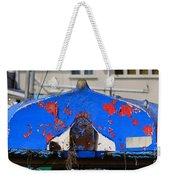 Peeling Blue Weekender Tote Bag