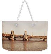 Pelham Bridge In Sepia Weekender Tote Bag