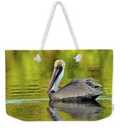 Pelican On A Golden Pond Weekender Tote Bag