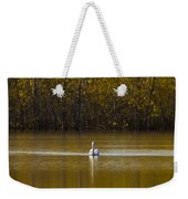 Pelican On Golden Pond Weekender Tote Bag