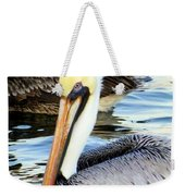 Pelican Pete Weekender Tote Bag by Karen Wiles
