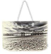 Penarth Pier Cream Weekender Tote Bag