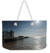 Penarth Pier Sun Weekender Tote Bag