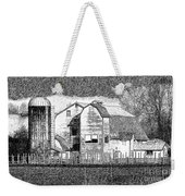 Pencil Sketch Barn Weekender Tote Bag