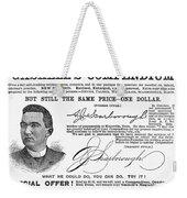 Penmanship Ad, 1887 Weekender Tote Bag