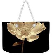 Peony Flower Portrait Sepia Weekender Tote Bag