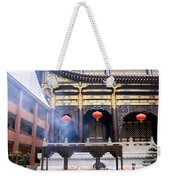 People At The Buddhist Temple Weekender Tote Bag