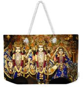 People Offering Prayers At The Iskcon Temple In Delhi Weekender Tote Bag