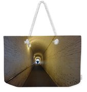 People Starting To Walk Down A Tunnel In Dover Castle Weekender Tote Bag