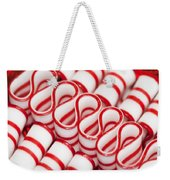 Peppermint Ribbon Candy Weekender Tote Bag