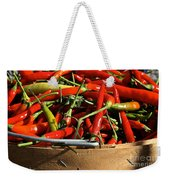 Peppers And More Peppers Weekender Tote Bag by Susan Herber