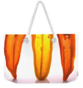Peppers In Half Weekender Tote Bag
