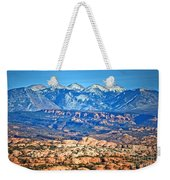 Petrified Dunes And La Sal Mountains Weekender Tote Bag