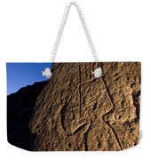 Petroglyphs Are Seen At Twilight Weekender Tote Bag