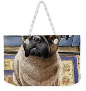 Hungry Pug Weekender Tote Bag