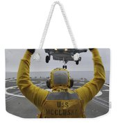 Petty Officer Guides An Sh-60r Sea Hawk Weekender Tote Bag