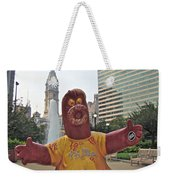 Phanatic Love Statue In The City Weekender Tote Bag by Alice Gipson