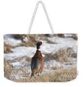 Pheasant In The Winter Weekender Tote Bag