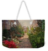 Philadelphia Courtyard - Symphony Of Springtime Gardens Weekender Tote Bag by Mother Nature