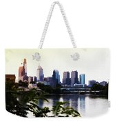 Philadelphia From The Banks Of The Schuylkill River Weekender Tote Bag