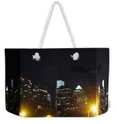 Philadelphia Skyline At Night - Mirror Box Weekender Tote Bag