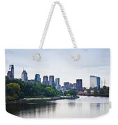 Philadelphia View From The Girard Avenue Bridge Weekender Tote Bag by Bill Cannon