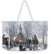 Philadelphia: Winter, 1873 Weekender Tote Bag