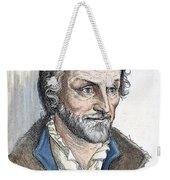 Philipp Melanchthon (1497-1560). German Scholar And Religious Reformer: Line Engraving, German, 19th Century Weekender Tote Bag
