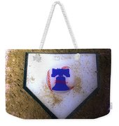 Phillies Home Plate Weekender Tote Bag by Bill Cannon